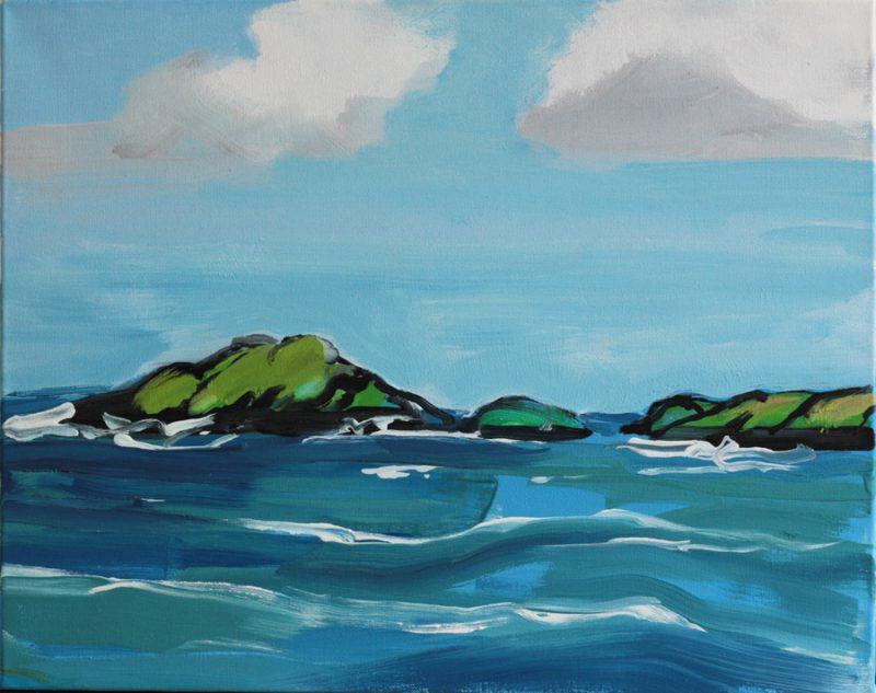Oil on Canvas, 40 x 50cm.